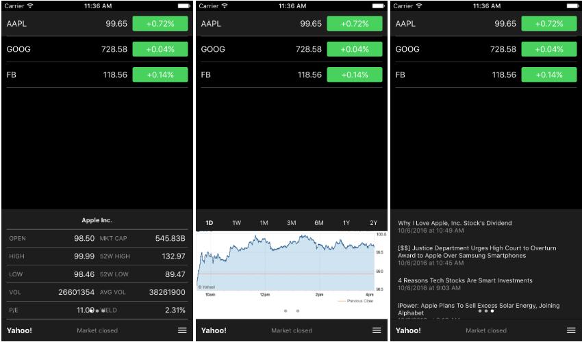 react native finance app stocks