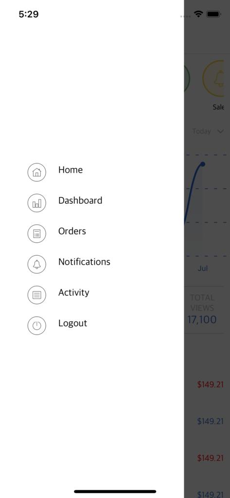 react native admin dashboard