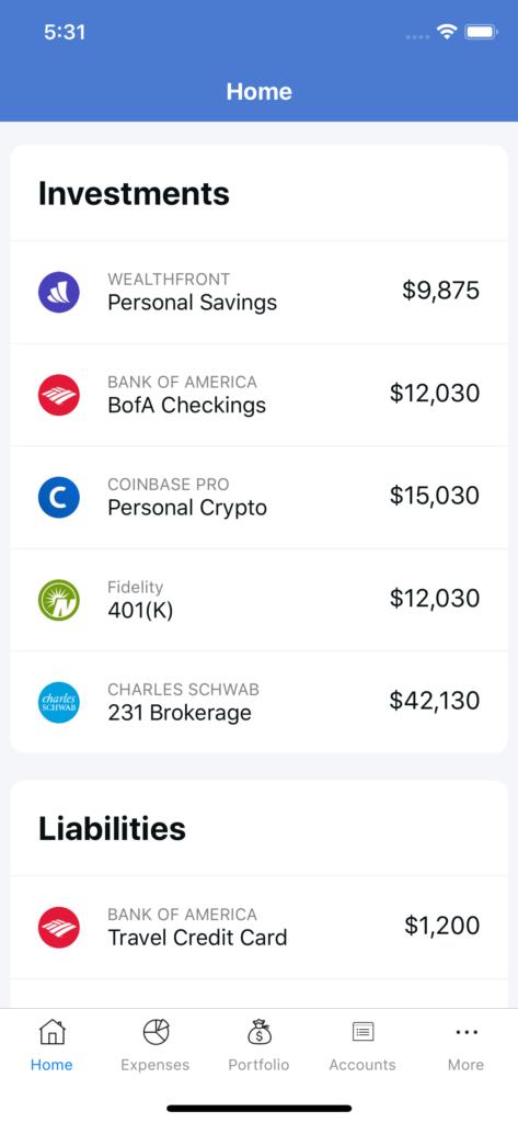 react native financial app