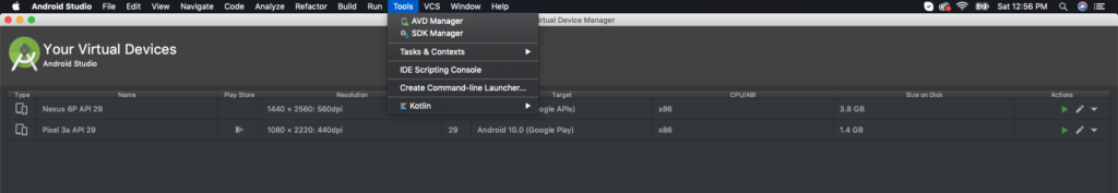 react native android emulator