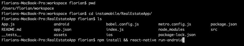 react native terminal