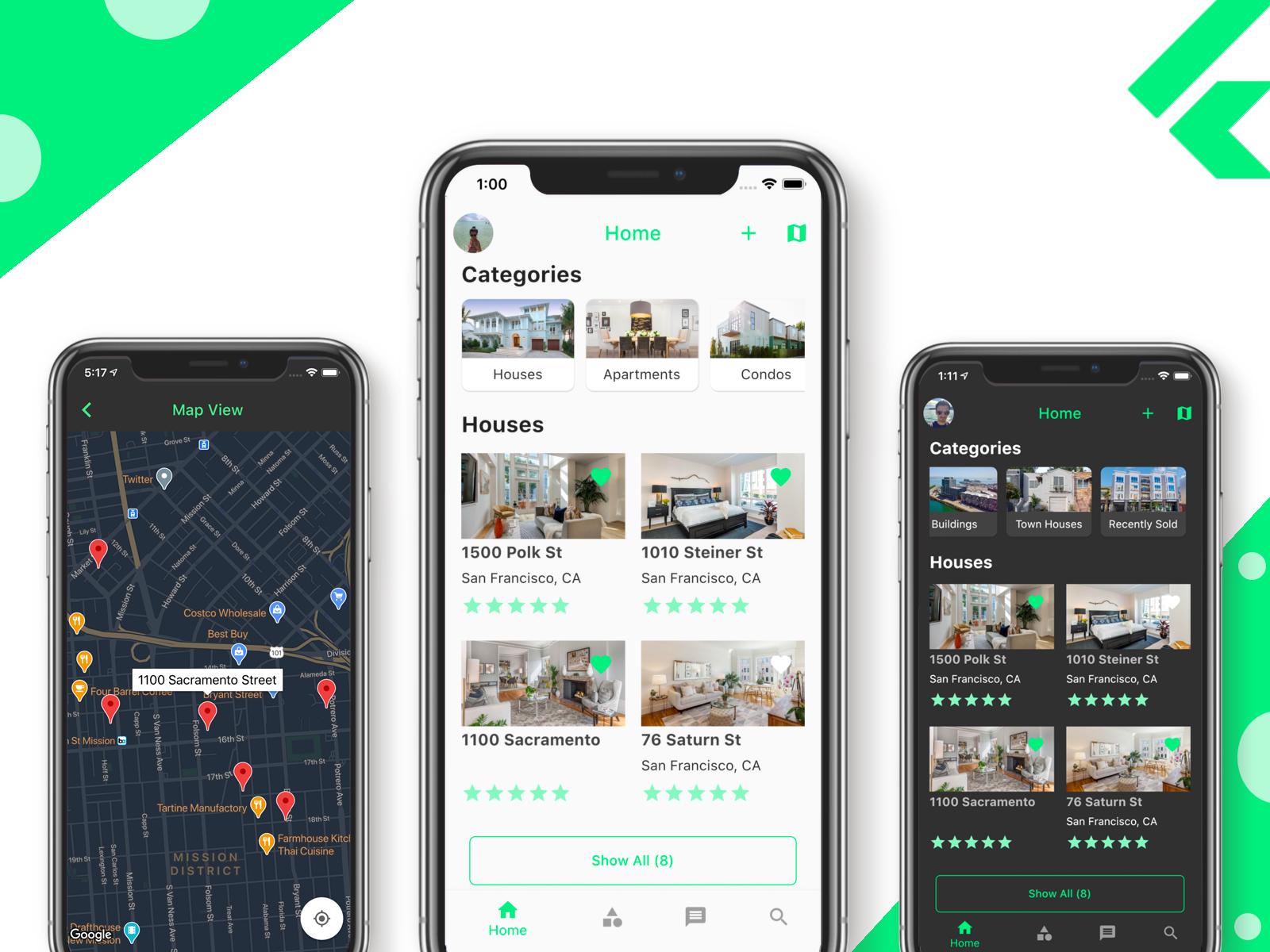 flutter real estate listings app